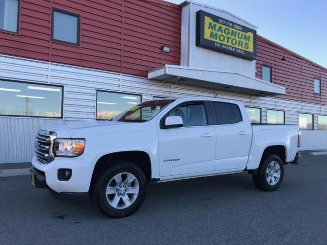 2017 White /Black GMC Canyon (1GTG6CEN4H1) with an 3.6L V6 DOHC 24V engine, 6A transmission, located at 1960 Industrial Drive, Wasilla, AK, 99654, (907) 376-5555, 61.573475, -149.400146 - Photo #0
