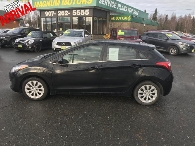 2017 Black /black Hyundai Elantra GT GT (KMHD35LH1HU) with an 2.0L L4 16V DOHC engine, At transmission, located at 44152 Sterling Highway, Soldotna, AK, 99669, (907) 262-5555, 60.484917, -151.062408 - Photo #0