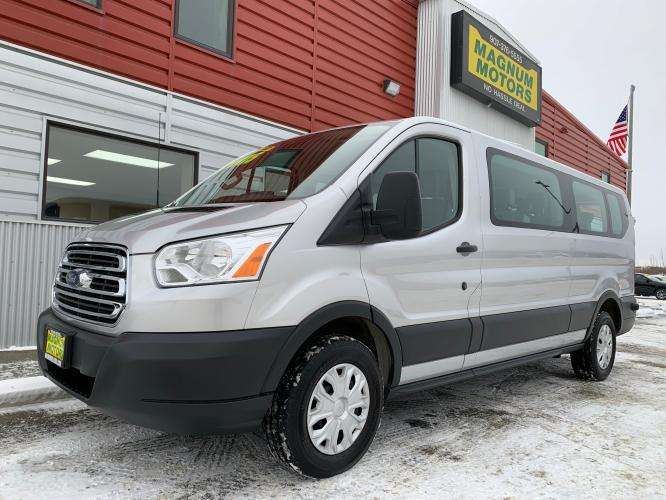 2018 Silver /Gray Ford Transit 350 Wagon Low Roof XLT (1FBZX2ZM7JK) with an 3.7L V6 DOHC 24V engine, 6A transmission, located at 44152 Sterling Highway, Soldotna, AK, 99669, (907) 262-5555, 60.484917, -151.062408 - Photo #0