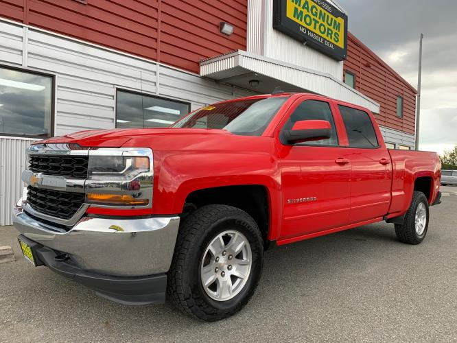 2017 Red /Black Chevrolet Silverado 1500 LT Crew Cab 4WD (3GCUKREC7HG) with an 5.3L V8 OHV 16V engine, 6A transmission, located at 1960 Industrial Drive, Wasilla, AK, 99654, (907) 376-5555, 61.573475, -149.400146 - Photo #0