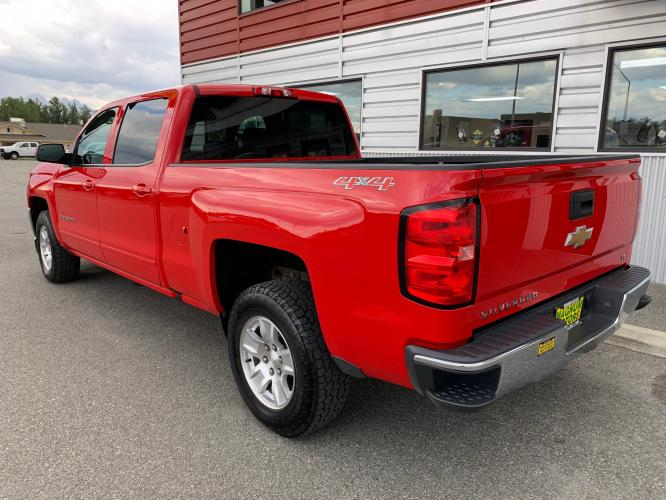 2017 Red /Black Chevrolet Silverado 1500 LT Crew Cab 4WD (3GCUKREC7HG) with an 5.3L V8 OHV 16V engine, 6A transmission, located at 1960 Industrial Drive, Wasilla, AK, 99654, (907) 376-5555, 61.573475, -149.400146 - Photo #3