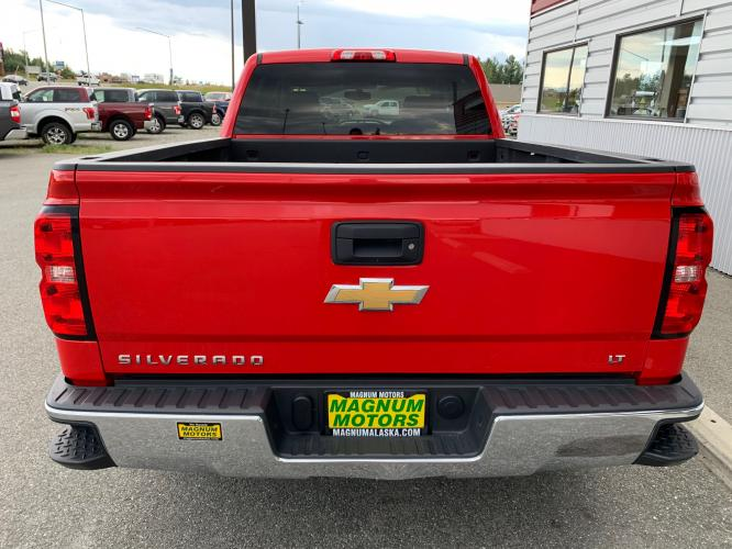 2017 Red /Black Chevrolet Silverado 1500 LT Crew Cab 4WD (3GCUKREC7HG) with an 5.3L V8 OHV 16V engine, 6A transmission, located at 1960 Industrial Drive, Wasilla, AK, 99654, (907) 376-5555, 61.573475, -149.400146 - Photo #4