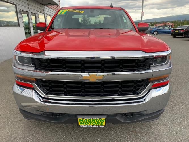 2017 Red /Black Chevrolet Silverado 1500 LT Crew Cab 4WD (3GCUKREC7HG) with an 5.3L V8 OHV 16V engine, 6A transmission, located at 1960 Industrial Drive, Wasilla, AK, 99654, (907) 376-5555, 61.573475, -149.400146 - Photo #7