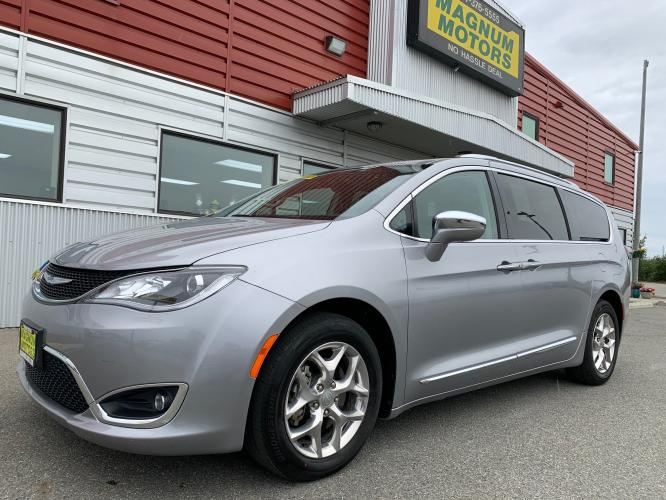 2018 Silver /Black Chrysler Pacifica Limited (2C4RC1GG2JR) with an 3.6L V6 DOHC 24V engine, 9A transmission, located at 44152 Sterling Highway, Soldotna, AK, 99669, (907) 262-5555, 60.484917, -151.062408 - Photo #0
