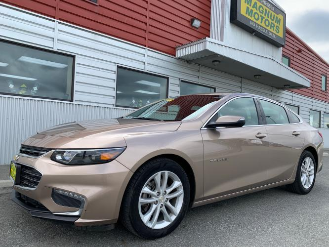 2018 Brown /Black Chevrolet Malibu LT (1G1ZD5ST7JF) with an 1.5L L4 DOHC 16V engine, 6A transmission, located at 1960 Industrial Drive, Wasilla, AK, 99654, (907) 376-5555, 61.573475, -149.400146 - Photo #0