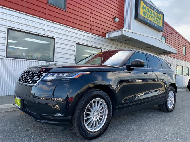 2019 Black /Black Land Rover Range Rover Velar Velar (SALYA2EX9KA) with an 2.0L L4 DOHC 16V engine, 8A transmission, located at 1960 Industrial Drive, Wasilla, AK, 99654, (907) 376-5555, 61.573475, -149.400146 - Photo #0