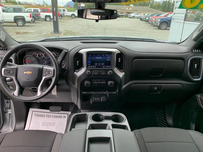 2020 Silver /Black Chevrolet Silverado 1500 LT Double Cab 4WD (1GCRYDED3LZ) with an 5.3L V8 OHV 16V engine, 6A transmission, located at 1960 Industrial Drive, Wasilla, AK, 99654, (907) 376-5555, 61.573475, -149.400146 - Photo #11