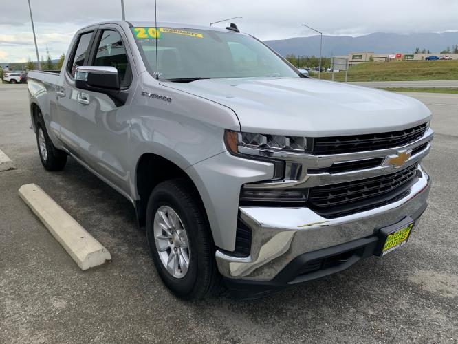 2020 Silver /Black Chevrolet Silverado 1500 LT Double Cab 4WD (1GCRYDED3LZ) with an 5.3L V8 OHV 16V engine, 6A transmission, located at 1960 Industrial Drive, Wasilla, AK, 99654, (907) 376-5555, 61.573475, -149.400146 - Photo #6
