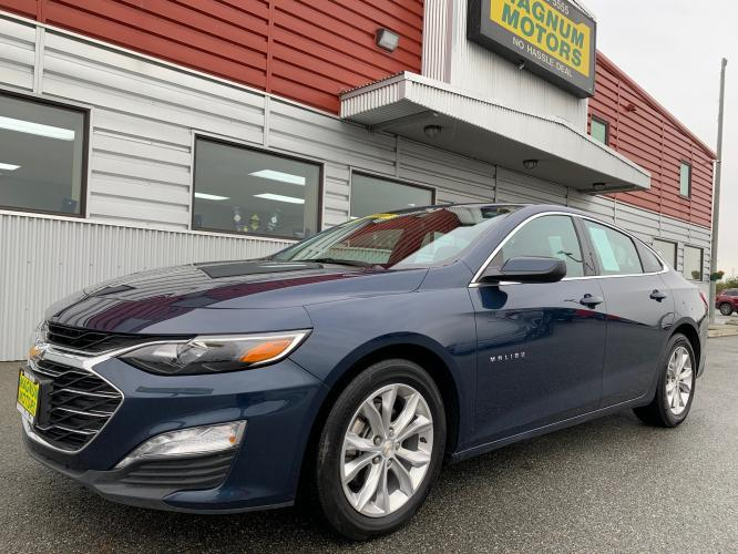 2019 Blue /Black Chevrolet Malibu LT (1G1ZD5ST4KF) with an 1.5L L4 DOHC 16V engine, 6A transmission, located at 1960 Industrial Drive, Wasilla, AK, 99654, (907) 376-5555, 61.573475, -149.400146 - Photo #0