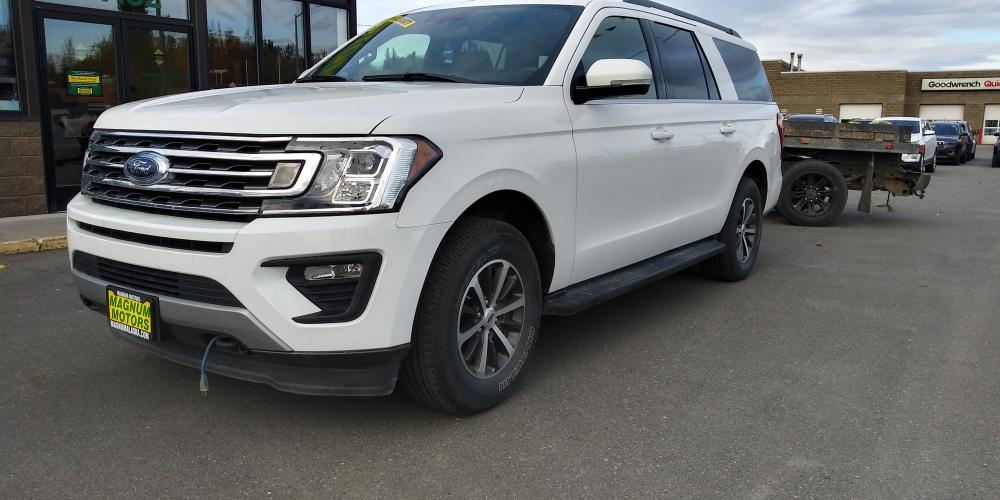 2019 White Ford Expedition MAX XLT 4WD (1FMJK1JTXKE) with an 3.5L V6 DOHC 24V FFV engine, 6A transmission, located at 44152 Sterling Highway, Soldotna, AK, 99669, (907) 262-5555, 60.484917, -151.062408 - Photo #0