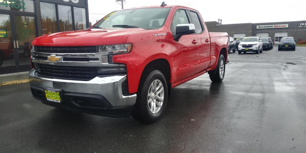 2020 Red /GRAY Chevrolet Silverado 1500 LT Double Cab 4WD (1GCRYDED7LZ) with an 5.3L V8 OHV 16V engine, 6A transmission, located at 44152 Sterling Highway, Soldotna, AK, 99669, (907) 262-5555, 60.484917, -151.062408 - Photo #0