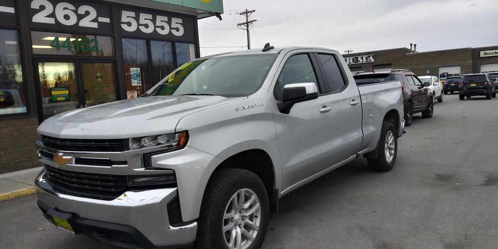 2020 Silver Chevrolet Silverado 1500 LT Double Cab 4WD (1GCRYDED1LZ) with an 5.3L V8 OHV 16V engine, 6A transmission, located at 44152 Sterling Highway, Soldotna, AK, 99669, (907) 262-5555, 60.484917, -151.062408 - Photo #0