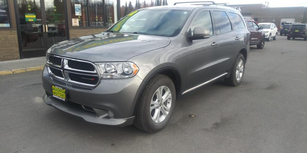 2012 Gray Dodge Durango Crew AWD (1C4RDJDG7CC) with an 3.6L V6 DOHC 24V engine, 5-Speed Automatic transmission, located at 44152 Sterling Highway, Soldotna, AK, 99669, (907) 262-5555, 60.484917, -151.062408 - Photo #0