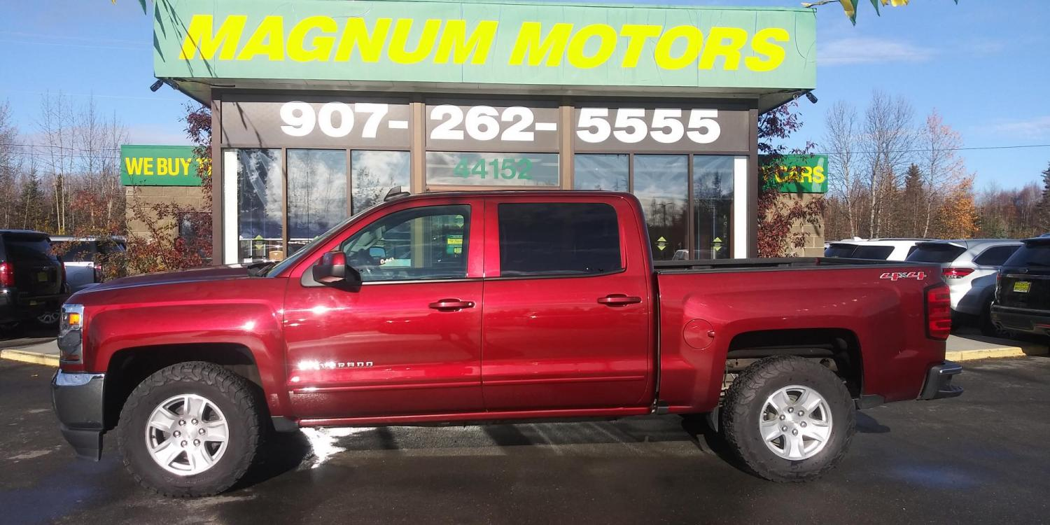 2017 Burgundy Chevrolet Silverado 1500 LT Crew Cab 4WD (3GCUKREC5HG) with an 5.3L V8 OHV 16V engine, 6A transmission, located at 44152 Sterling Highway, Soldotna, 99669, (907) 262-5555, 60.484917, -151.062408 - Photo #2