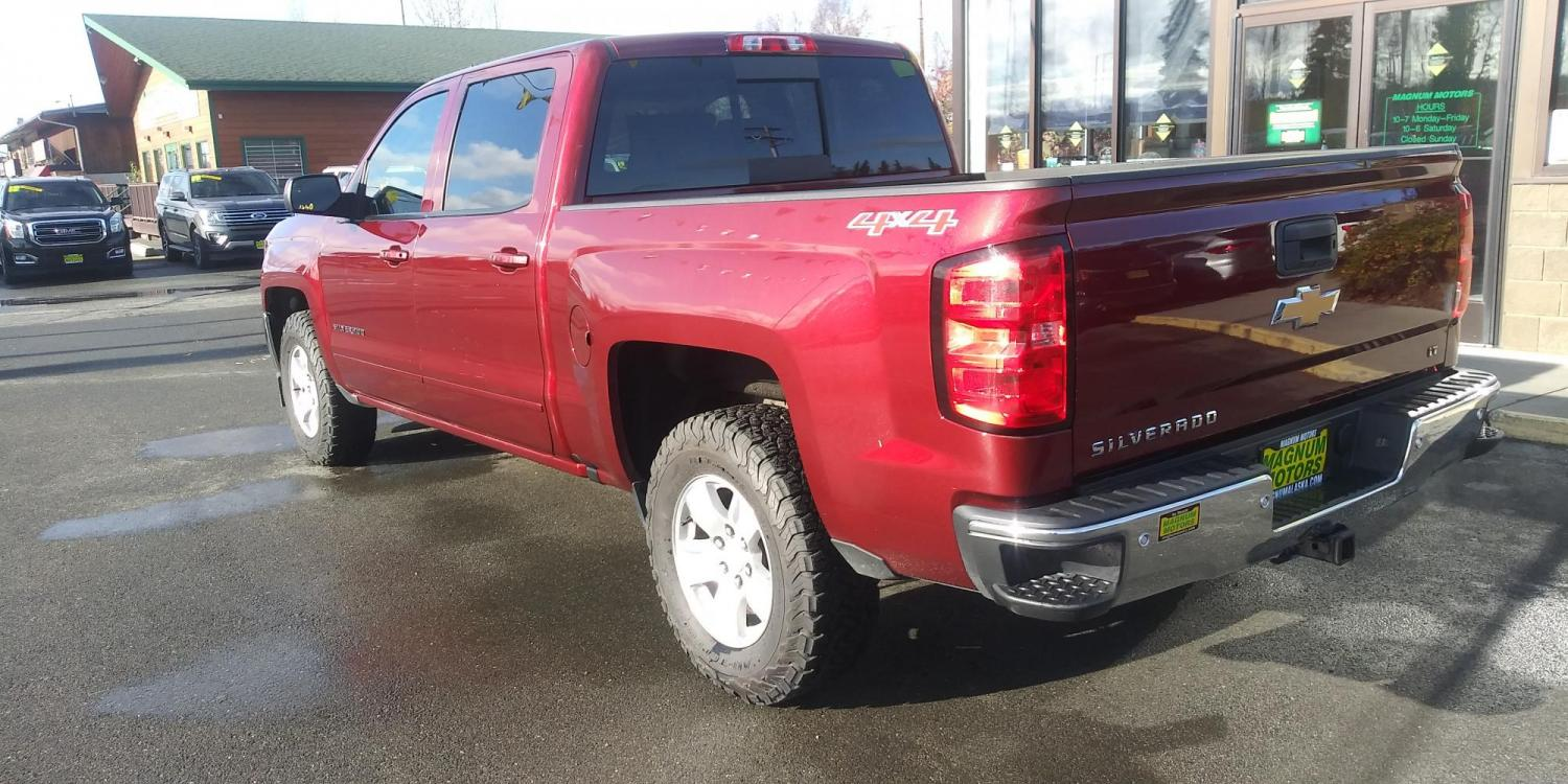 2017 Burgundy Chevrolet Silverado 1500 LT Crew Cab 4WD (3GCUKREC5HG) with an 5.3L V8 OHV 16V engine, 6A transmission, located at 44152 Sterling Highway, Soldotna, 99669, (907) 262-5555, 60.484917, -151.062408 - Photo #3