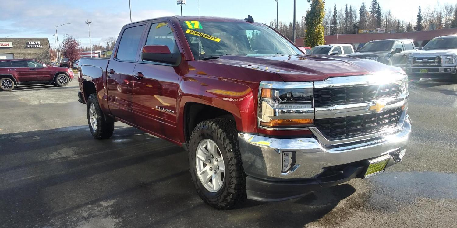 2017 Burgundy Chevrolet Silverado 1500 LT Crew Cab 4WD (3GCUKREC5HG) with an 5.3L V8 OHV 16V engine, 6A transmission, located at 44152 Sterling Highway, Soldotna, 99669, (907) 262-5555, 60.484917, -151.062408 - Photo #8
