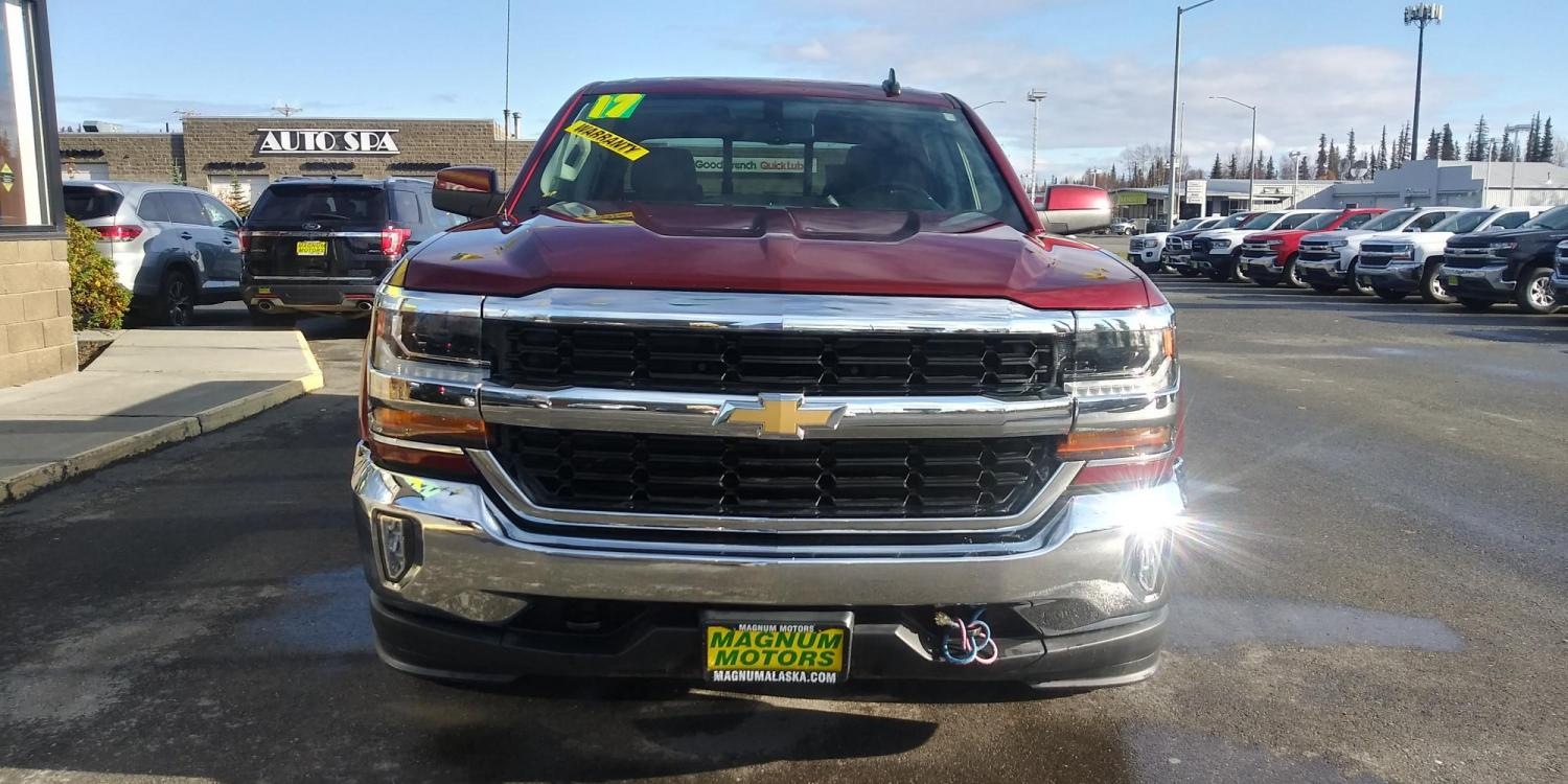 2017 Burgundy Chevrolet Silverado 1500 LT Crew Cab 4WD (3GCUKREC5HG) with an 5.3L V8 OHV 16V engine, 6A transmission, located at 44152 Sterling Highway, Soldotna, 99669, (907) 262-5555, 60.484917, -151.062408 - Photo #9