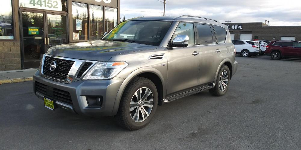 2019 Gray Nissan Armada SL AWD (JN8AY2NC4KX) with an 5.6L V8 DOHC 32V engine, 7A transmission, located at 44152 Sterling Highway, Soldotna, AK, 99669, (907) 262-5555, 60.484917, -151.062408 - Photo #0