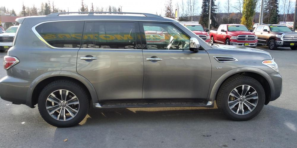 2019 Gray Nissan Armada SL AWD (JN8AY2NC4KX) with an 5.6L V8 DOHC 32V engine, 7A transmission, located at 44152 Sterling Highway, Soldotna, AK, 99669, (907) 262-5555, 60.484917, -151.062408 - Photo #6