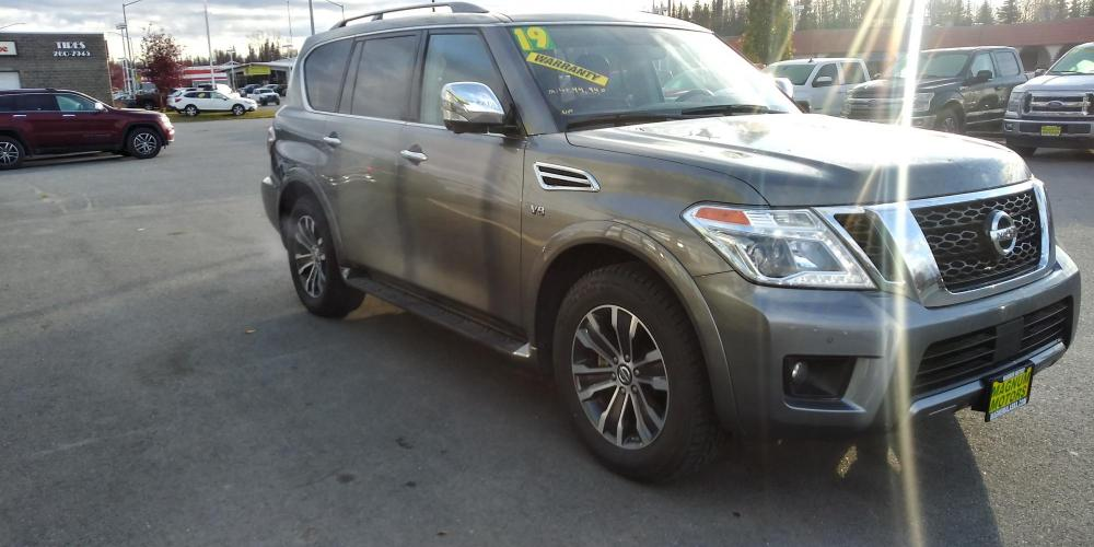 2019 Gray Nissan Armada SL AWD (JN8AY2NC4KX) with an 5.6L V8 DOHC 32V engine, 7A transmission, located at 44152 Sterling Highway, Soldotna, AK, 99669, (907) 262-5555, 60.484917, -151.062408 - Photo #7