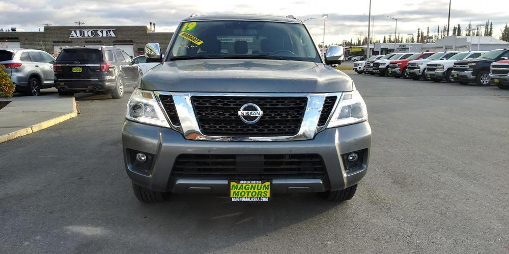 2019 Gray Nissan Armada SL AWD (JN8AY2NC4KX) with an 5.6L V8 DOHC 32V engine, 7A transmission, located at 44152 Sterling Highway, Soldotna, AK, 99669, (907) 262-5555, 60.484917, -151.062408 - Photo #8