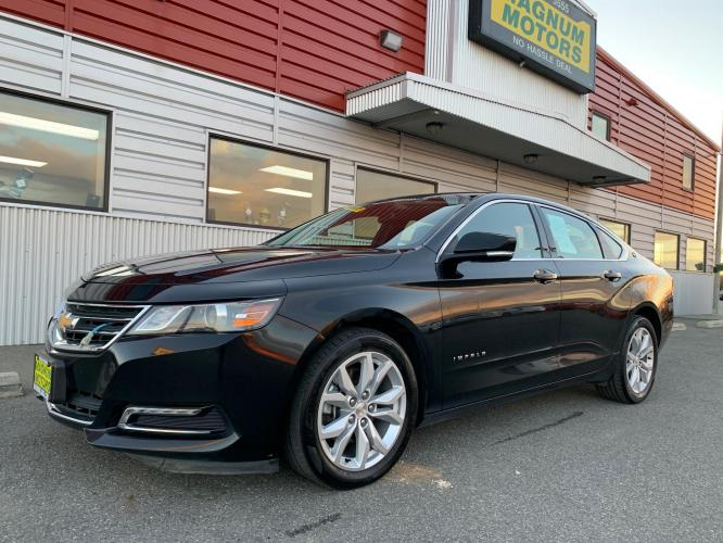 2018 Black /Black Chevrolet Impala LT (2G1105S37J9) with an 3.6L V6 DOHC 24V engine, 6A transmission, located at 1960 Industrial Drive, Wasilla, AK, 99654, (907) 376-5555, 61.573475, -149.400146 - Photo #0