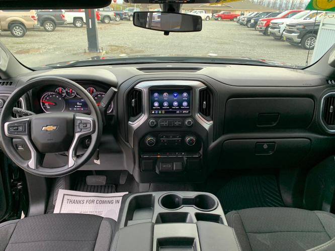2020 Black /Black Chevrolet Silverado 1500 LT Double Cab 4WD (1GCRYDED7LZ) with an 5.3L V8 OHV 16V engine, 6A transmission, located at 1960 Industrial Drive, Wasilla, AK, 99654, (907) 376-5555, 61.573475, -149.400146 - Photo #11
