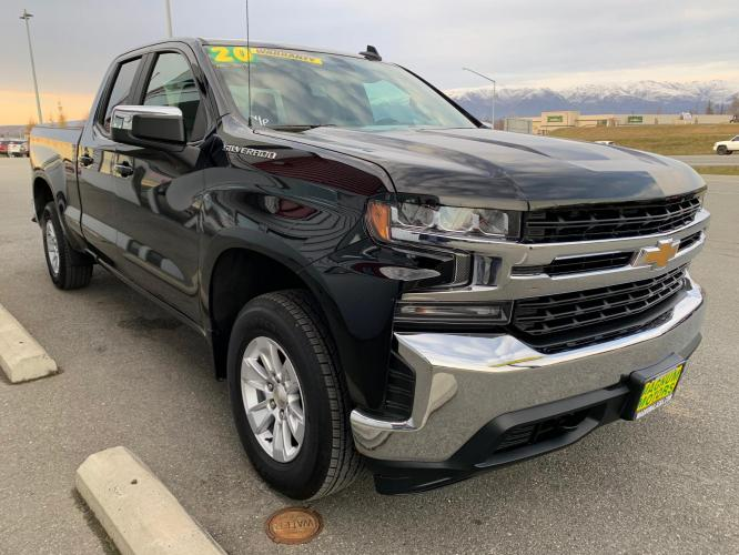 2020 Black /Black Chevrolet Silverado 1500 LT Double Cab 4WD (1GCRYDED7LZ) with an 5.3L V8 OHV 16V engine, 6A transmission, located at 1960 Industrial Drive, Wasilla, AK, 99654, (907) 376-5555, 61.573475, -149.400146 - Photo #6