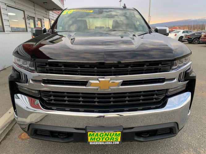 2020 Black /Black Chevrolet Silverado 1500 LT Double Cab 4WD (1GCRYDED7LZ) with an 5.3L V8 OHV 16V engine, 6A transmission, located at 1960 Industrial Drive, Wasilla, AK, 99654, (907) 376-5555, 61.573475, -149.400146 - Photo #7