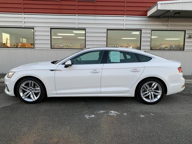2019 White /Black Audi A5 Premium Sportback quattro (WAUANCF55KA) with an 2.0L L4 DOHC 16V TURBO engine, 7A transmission, located at 1960 Industrial Drive, Wasilla, AK, 99654, (907) 376-5555, 61.573475, -149.400146 - Photo #1