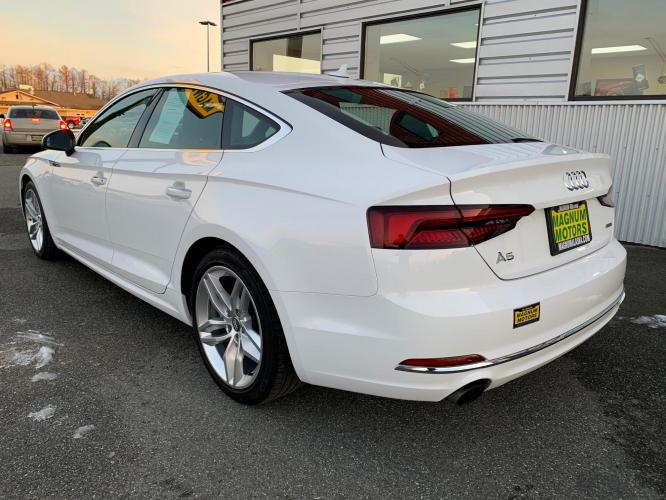 2019 White /Black Audi A5 Premium Sportback quattro (WAUANCF55KA) with an 2.0L L4 DOHC 16V TURBO engine, 7A transmission, located at 1960 Industrial Drive, Wasilla, AK, 99654, (907) 376-5555, 61.573475, -149.400146 - Photo #2
