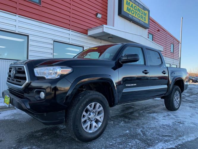 2019 Black /Black Toyota Tacoma SR5 Double Cab V6 4WD (3TMCZ5AN9KM) with an 3.6L V6 DOHC 24V engine, 6A transmission, located at 1960 Industrial Drive, Wasilla, AK, 99654, (907) 376-5555, 61.573475, -149.400146 - Photo #0
