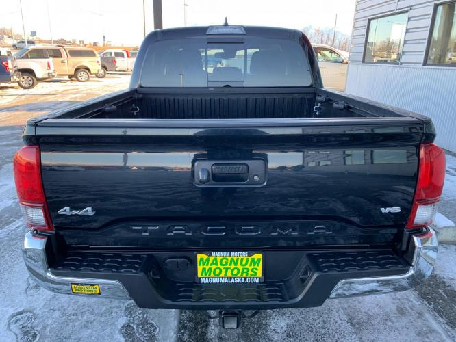 2019 Black /Black Toyota Tacoma SR5 Double Cab V6 4WD (3TMCZ5AN9KM) with an 3.6L V6 DOHC 24V engine, 6A transmission, located at 1960 Industrial Drive, Wasilla, AK, 99654, (907) 376-5555, 61.573475, -149.400146 - Photo #4