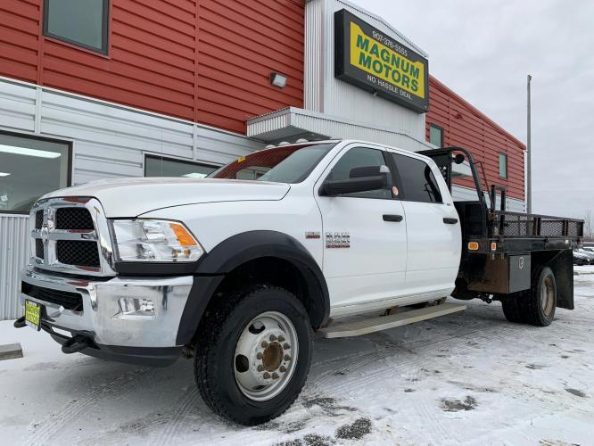 2016 White /Gray RAM 5500 Crew Cab LWB 4WD DRW (3C7WRNFJ6GG) with an 6.4L V8 OHV 16V engine, Automatic transmission, located at 1960 Industrial Drive, Wasilla, AK, 99654, (907) 376-5555, 61.573475, -149.400146 - Photo #0
