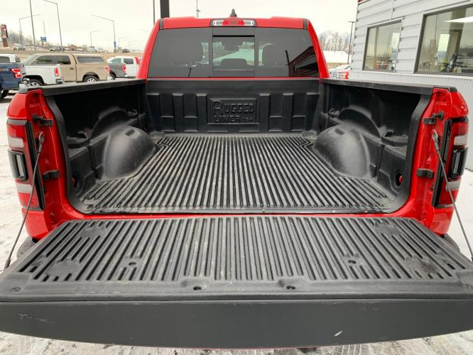 2019 Red /Black/Red RAM 1500 Rebel Quad Cab 4WD (1C6SRFET0KN) with an 3.6L V6 FFV engine, 8A transmission, located at 1960 Industrial Drive, Wasilla, AK, 99654, (907) 376-5555, 61.573475, -149.400146 - Photo #17