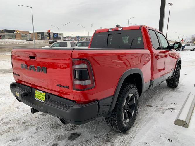 2019 Red /Black/Red RAM 1500 Rebel Quad Cab 4WD (1C6SRFET0KN) with an 3.6L V6 FFV engine, 8A transmission, located at 1960 Industrial Drive, Wasilla, AK, 99654, (907) 376-5555, 61.573475, -149.400146 - Photo #5