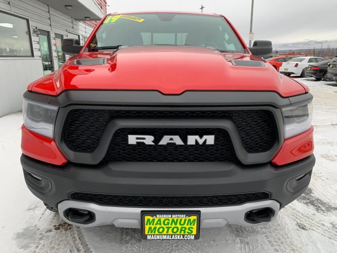2019 Red /Black/Red RAM 1500 Rebel Quad Cab 4WD (1C6SRFET0KN) with an 3.6L V6 FFV engine, 8A transmission, located at 1960 Industrial Drive, Wasilla, AK, 99654, (907) 376-5555, 61.573475, -149.400146 - Photo #7
