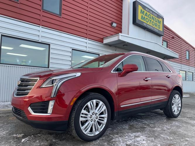 2019 Red /Black Cadillac XT5 Premium Luxury AWD (1GYKNFRSXKZ) with an 3.6L V6 DOHC 24V engine, 8A transmission, located at 1960 Industrial Drive, Wasilla, AK, 99654, (907) 376-5555, 61.573475, -149.400146 - Photo #0
