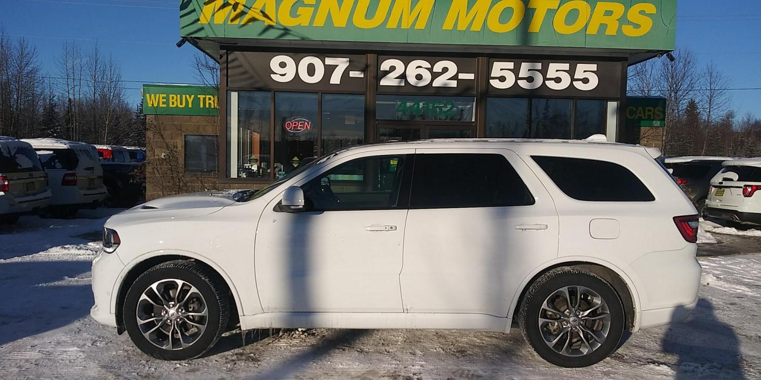 2019 White Dodge Durango R/T AWD (1C4SDJCT9KC) with an 5.7L V8 OHV 16V engine, 8A transmission, located at 44152 Sterling Highway, Soldotna, 99669, (907) 262-5555, 60.484917, -151.062408 - Photo #2