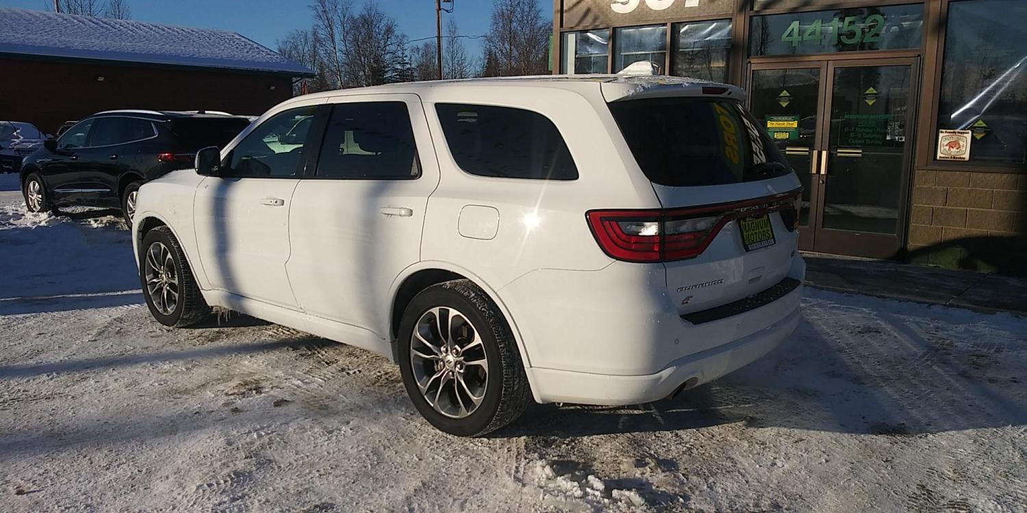 2019 White Dodge Durango R/T AWD (1C4SDJCT9KC) with an 5.7L V8 OHV 16V engine, 8A transmission, located at 44152 Sterling Highway, Soldotna, 99669, (907) 262-5555, 60.484917, -151.062408 - Photo #3