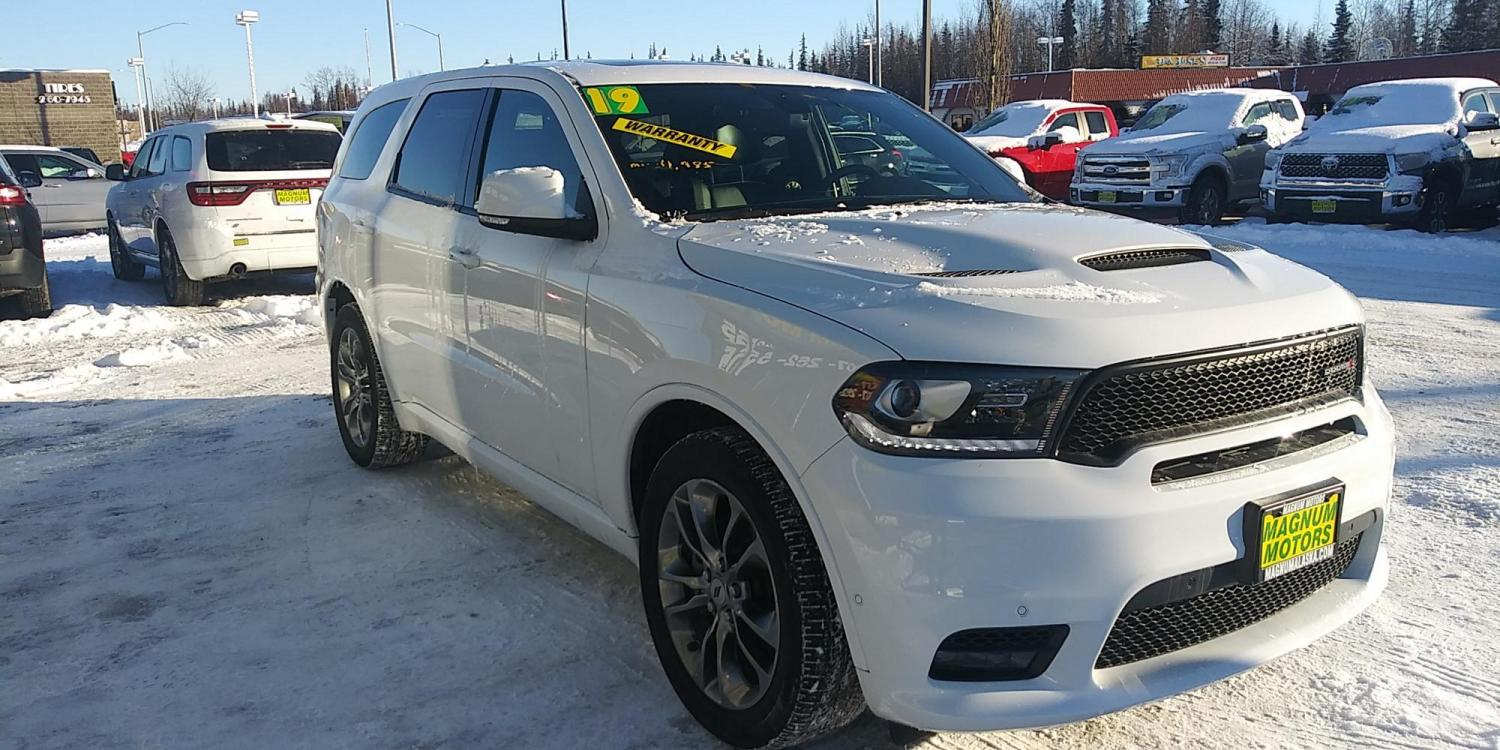 2019 White Dodge Durango R/T AWD (1C4SDJCT9KC) with an 5.7L V8 OHV 16V engine, 8A transmission, located at 44152 Sterling Highway, Soldotna, 99669, (907) 262-5555, 60.484917, -151.062408 - Photo #7