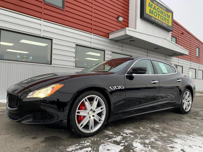 2015 Black /Black Maserati Quattroporte S Q4 (ZAM56RRA5F1) with an 30.0L V6 DOHC 24V engine, 8-Speed Automatic transmission, located at 1960 Industrial Drive, Wasilla, AK, 99654, (907) 376-5555, 61.573475, -149.400146 - Photo #0