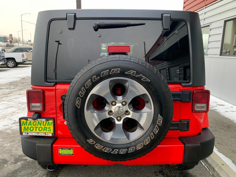 2018 Red /Black Jeep Wrangler Unlimited Sahara 4WD (1C4HJWEG3JL) with an 3.6L V6 DOHC 24V FFV engine, Automatic transmission, located at 44152 Sterling Highway, Soldotna, 99669, (907) 262-5555, 60.484917, -151.062408 - Photo #4