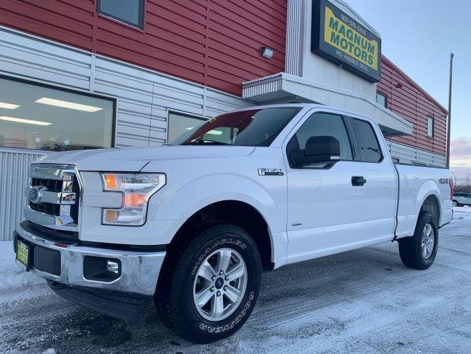 2017 White /Tan Ford F-150 XLT SuperCab 4WD (1FTFX1EG6HK) with an 3.5L V6 DOHC 24V engine, 6A transmission, located at 1960 Industrial Drive, Wasilla, AK, 99654, (907) 376-5555, 61.573475, -149.400146 - Photo #0