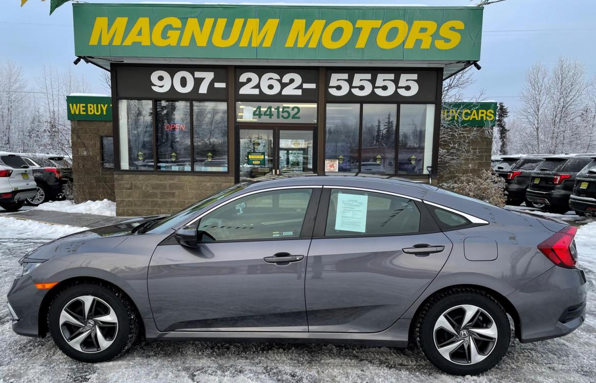 2019 Honda Civic LX Honda Sensing Sedan CVT (19XFC2F64KE) with an 2.0L L4 DOHC 16V engine, CVT transmission, located at 44152 Sterling Highway, Soldotna, 99669, (907) 262-5555, 60.484917, -151.062408 - Photo #0