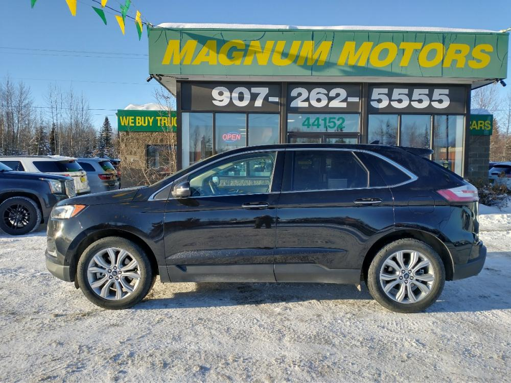 2019 Black Ford Edge Titanium AWD (2FMPK4K95KB) with an 2.0L L4 DOHC 16V engine, 6A transmission, located at 44152 Sterling Highway, Soldotna, 99669, (907) 262-5555, 60.484917, -151.062408 - Photo #2