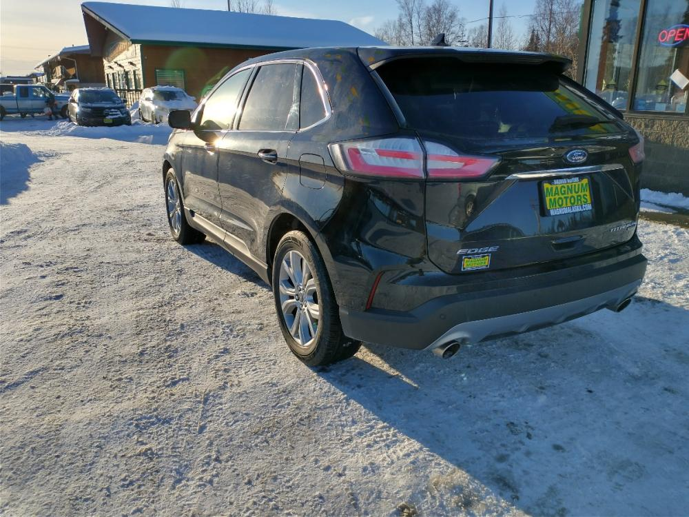 2019 Black Ford Edge Titanium AWD (2FMPK4K95KB) with an 2.0L L4 DOHC 16V engine, 6A transmission, located at 44152 Sterling Highway, Soldotna, 99669, (907) 262-5555, 60.484917, -151.062408 - Photo #3