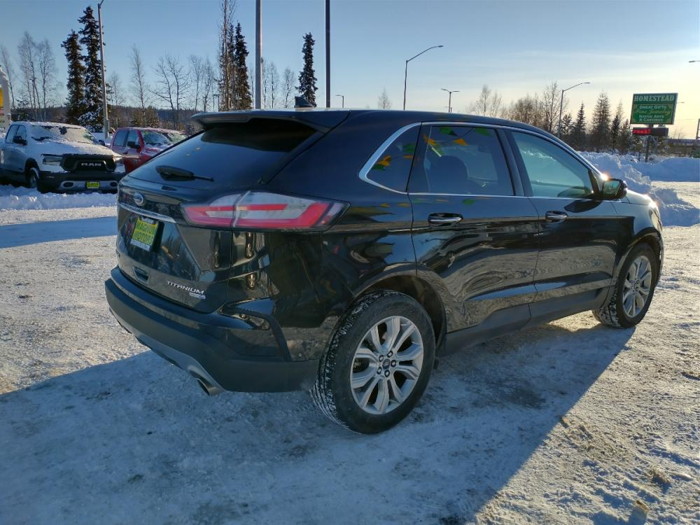 2019 Black Ford Edge Titanium AWD (2FMPK4K95KB) with an 2.0L L4 DOHC 16V engine, 6A transmission, located at 44152 Sterling Highway, Soldotna, 99669, (907) 262-5555, 60.484917, -151.062408 - Photo #5