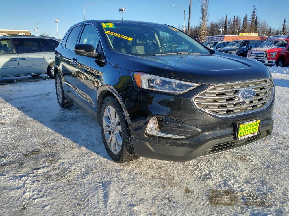 2019 Black Ford Edge Titanium AWD (2FMPK4K95KB) with an 2.0L L4 DOHC 16V engine, 6A transmission, located at 44152 Sterling Highway, Soldotna, 99669, (907) 262-5555, 60.484917, -151.062408 - Photo #7