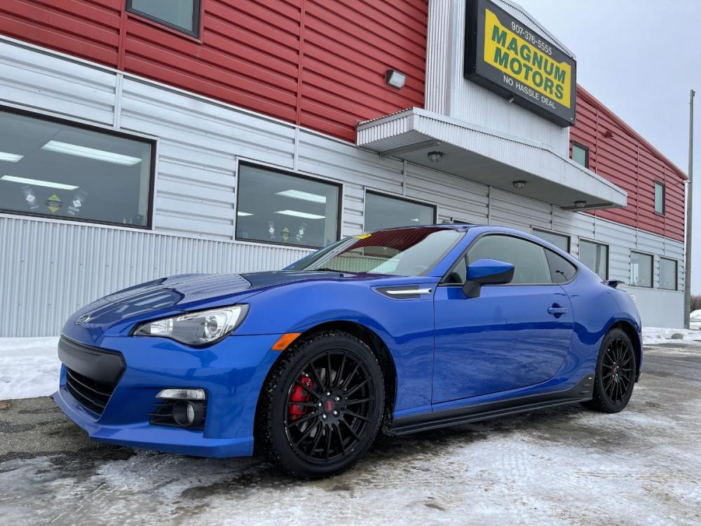 2015 Blue /Black Subaru BRZ Limited Series Blue (JF1ZCAC13F9) with an 2.0L H4 16V engine, 6-Speed Manual transmission, located at 1960 Industrial Drive, Wasilla, AK, 99654, (907) 376-5555, 61.573475, -149.400146 - Photo #0